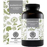 Magnesium - 2250mg Premium Magnesiumcitrat, davon 360mg elementares Magnesium pro Tagesdosis. 180 Kapseln. Laborgeprüft und ohne Magnesiumstearat. Hochdosiert, vegan, hergestellt in Deutschland