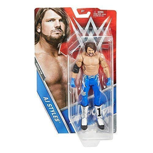 WWE Mattel Ringen Basic-Serie 76 Actionfigur - Aj Stile Phänomenal Blau Kostüm - Smackdown Live (Wrestling Ring Wwe)