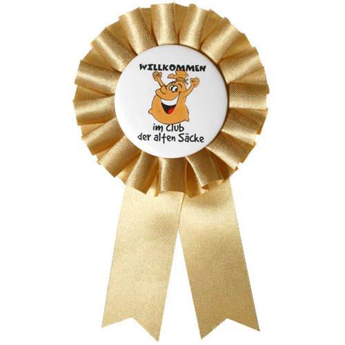 Preisvergleich Produktbild Rosette Club der alten Säcke,  goldfarben