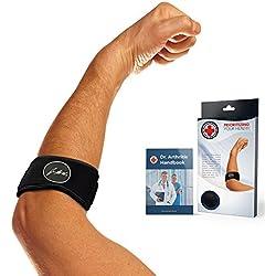 Die Ultimative Lösung für den Tennisarm & Golferarm – Ellbogenstütze /Gurt / Bandage mit von Ärzten verfasstem Rehabilitationshandbuch
