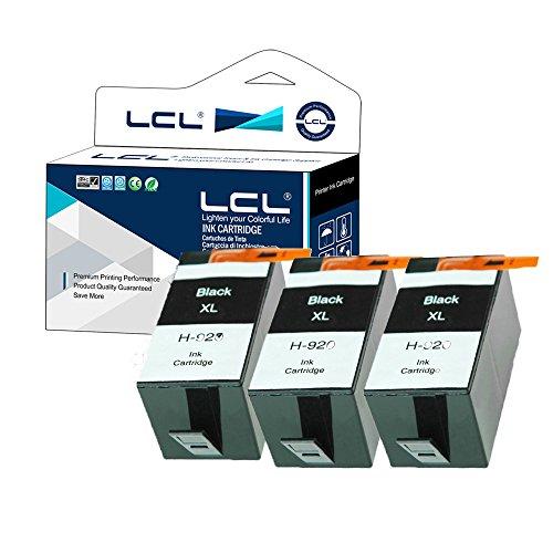 Lcl cartucce d'inchiostro compatibile 920xl (3 nero) sostituzione per hp officejet 6000/6500 /6500 wireless/6500a /7000/7500/7500a