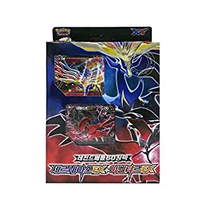 Pokémon Cartes XY 60 Cards in 1 Box XERNEAS EX + YVELTAL EX Legend Battle Deck Corée Edition