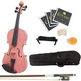 Mendini 4/4MV-Pink+SR Violon Acoustique Rose