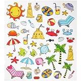 Hobby Design Sticker * Sommer - Urlaub - Strand - Meer * Aufkleber
