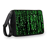 MySleeveDesign Messenger Bag Laptoptasche Notebooktasche mit Tragegurt - Tasche für Laptop & Notebook der Größen 13,3 Zoll / 14 Zoll / 15,6 Zoll / 17,3 Zoll - VERSCH. Designs - Digital - 17