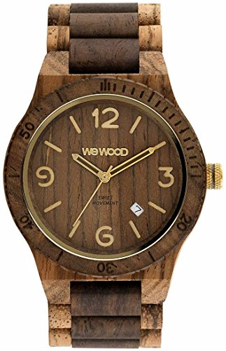 WEWOOD Alpha SW Zebrano Choco Rough - Montre homme