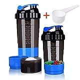 Botella de cocción de proteínas – 3 capas de almacenamiento de...