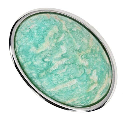 Sogni d'oro argento tempo donna-anello sterling-silber 925 rodiato amazzonite 20ct, argento, 13, cod. sb362137