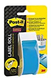 Post-It Super Sticky Rouleau d'étiquettes amovibles 25.4 mm x 17.7 m bleu