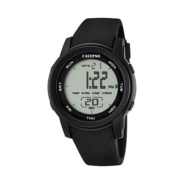 b579fe9c87a6 Calypso de hombre reloj de pulsera Sport Digital PU de pulsera ...
