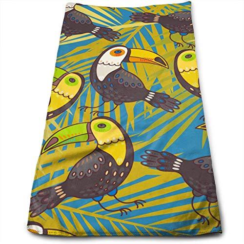 Uosliks Entzückendes Tukan-super weiches Polyester-saugfähiges Gesichtstuch-Möbel-Tuch-Vielzweckküchen-Reinigung 3070CM -