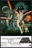 Star Wars Poster Style 'C' - American (93x62 cm) gerahmt in: Rahmen schwarz
