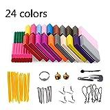 GSYXY Polymer Ton 24 Farben Clay, Ofen Backen DIY Lehm Moulding Craft, Safe und ungiftig Kinderknete und Werkzeuge, Bestes Geschenk für Kinder