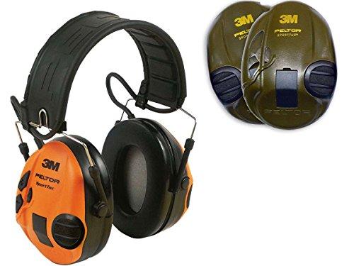 3M Peltor SportTac Gehörschutz Orange & Grün zum Jagen und Schießen