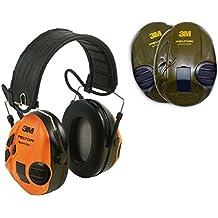 Peltor SportTac - Protector de audio, color verde y naranja.
