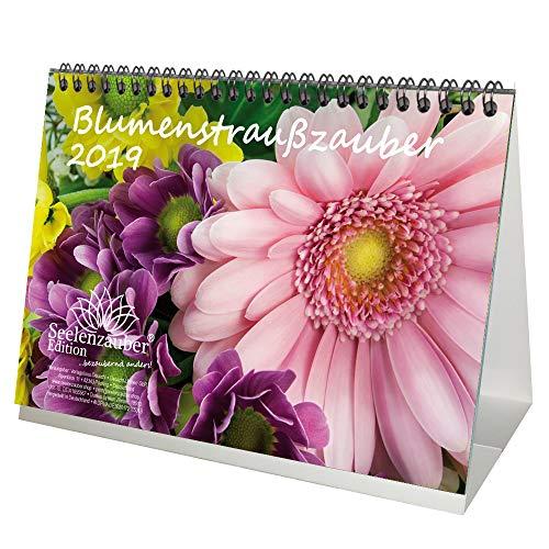 Blumenstraußzauber · DIN A5 · Premium Tischkalender/Kalender 2019 · Blumenstrauß · Rose · Valentinstag · Blume · Schmetterling · Natur · Set 1 Grußkarte & 1 Weihnachtskarte · Edition Seelenzauber
