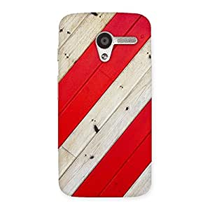 Stylish Diagnoal Red Print Back Case Cover for Moto X