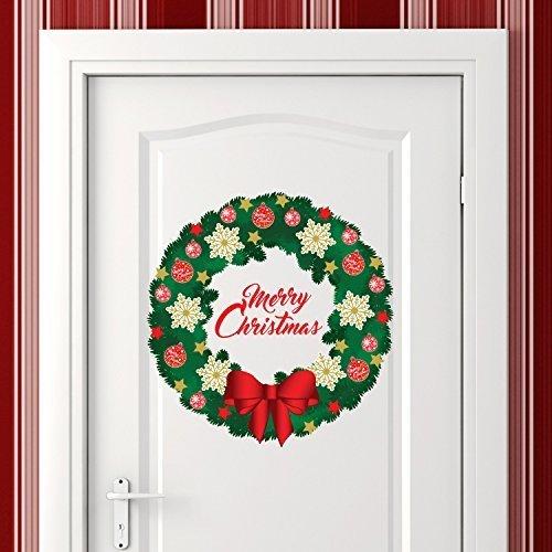 wallflexi-pared-feliz-navidad-guirnalda-de-navidad-decoraciones-pegatinas-de-pared-murales-adhesivos