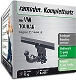 Rameder Komplettsatz, Anhängerkupplung abnehmbar + 13pol Elektrik für VW TOURAN (113117-10449-3)