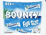 Mars Chocolate Bounty Milk Fun Size Bag, 303 g - Pack of 16, Total 160 bars