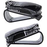 Universal Auto Coche Sol Visera Gafas Gafas de sol Ticket Tarjeta de recepción para almacenamiento soporte, pack de 2