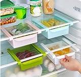 Zeuxs Aufbewahrungsbox für Kühlschrank, ausziehbar, Blau