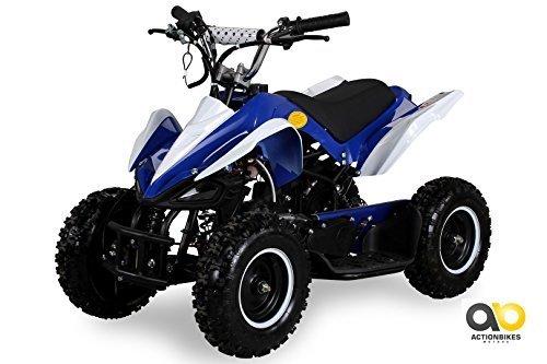 Mini Kinder ATV 49 cc Racer Pocketquad 2-takt Quad (blau / weiß)