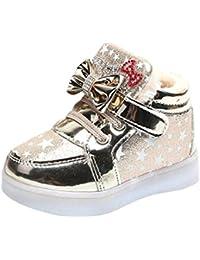 TTMall Bambino Bambino Sneakers di Moda Stella Luminosa Scarpe Casual Colorate Chiare per Bambini Primavera Autunno P7Gs6