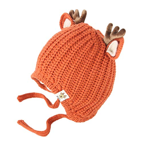 Unisex Kinder Mädchen & Jungen Baby Weihnachten Beanie Mütze Hut Cartoon Hirsch Winter häkeln Strickmütze Beanie Cap Warme Stricken Hüte Wintermütze Kindermütze Wollmütze