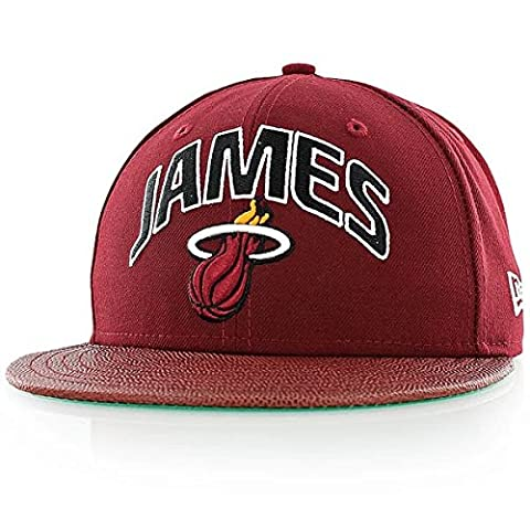 New Era NBA Players Miami Heat 59FIFTY Fitted Baseball Cap in Maroon 7 1/2 (59.6cm)
