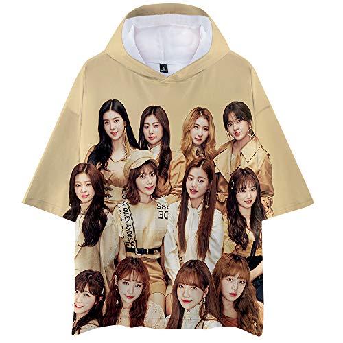 IZONE Camiseta La Camiseta Ligera y Respirable de los Hombres Superventas  para la Camisa cómoda de la Manga Corta de los Hombres (Color : A03, Size :