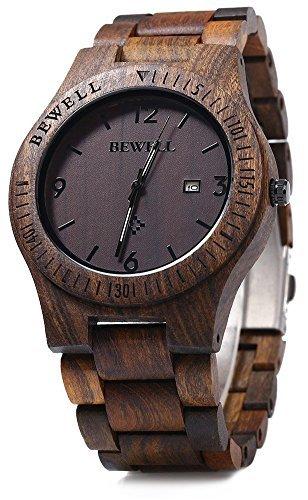 Bewell ZS-W086B legno uomini orologio analogico al quarzo...