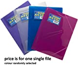 Tiger Elasticated A4 3 Flap File - Assorted Colours - Single