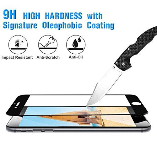 CRXOOX Protector de Pantalla para iPhone 7 Plus/iPhone 8 Plus Cristal Vidrio Templado  2 Unidades  9H Dureza  Alta Definicion 0.33mm  2.5D Round Edge  Compatible con 3D Touch (Negro)