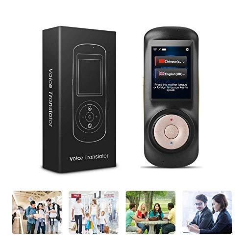 LXYFMS Sprachsprache Übersetzung Ausrüstung Sofortige Intelligente Zwei-Wege-Portable Übersetzung Lernen Travel Business Shopping Sprachübersetzung Ausrüstung WiFi 2,4-Zoll-Touchscreen Übersetzer
