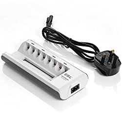 EBL 8 Bays AA AAA Battery Charger, Smart Ni-MH Ni-CD Rechargeable Battery Charger