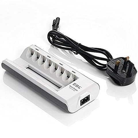 EBL 8 Bays AA AAA Ni-MH Ni-CD Battery Charger Smart Rechargeable Battery Charger