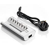 EBL 8 Bays Ni-MH Ni-CD AA AAA Battery Charger, Smart Rechargeable Battery Charger