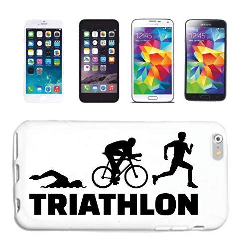 Helene Handyhülle iPhone 7 Triathlon - Marathon - Schwimmen - Laufen - Radfahren Hardcase Schutzhülle Handycover Smart Cover für Apple iPhone in Weiß