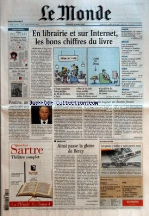 MONDE (LE) [No 18707] du 18/03/2005 -