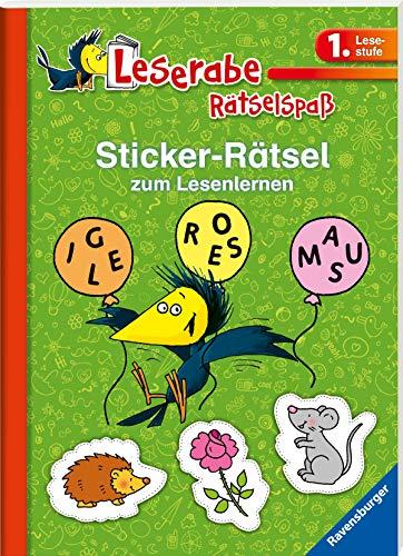 Sticker-Rätsel zum Lesenlernen (1. Lesestufe), grün (Leserabe - Rätselspaß)