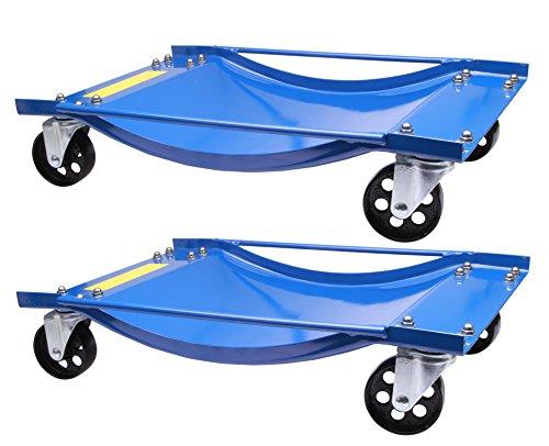 2 chariots de manutention pour voiture chariot de visite 450kg