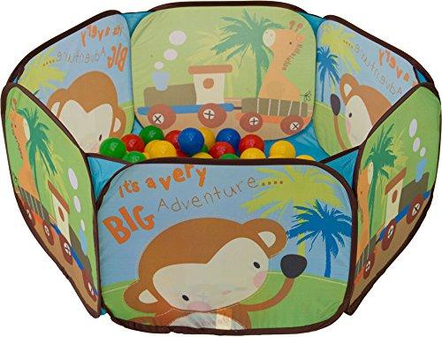 Bällebad Tiere Pop-Up inkl. 100 Bälle Spielzelt Spielzelt Laufstall