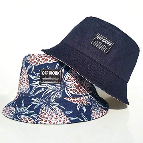 Bucket Hat, Ananas-Druck Faltbar Atmungsaktiv Fischerhut Bergsteigen Camping Sonnenhut ()