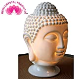 Vastu / Feng Shui Ceramic Buddha Head Aroma Diffuser Electric Essential Oil Lamp