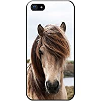 Fancy A Snuggle Close Up Of Dirty White Horse Snap-on Hard Back Case Phone Cover for Apple iPhone 5S/5