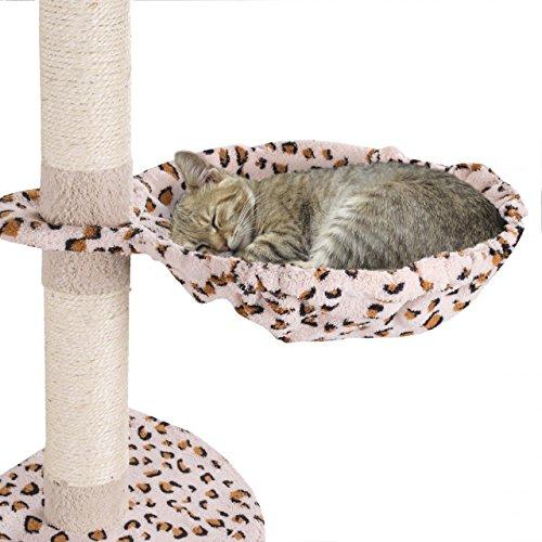 Happypet® Liegemulden für Kratzbaum Ø 40 cm großer Durchmesser, Schlafmulde, Stabiler Stahlrahmen, mit weichem Plüsch bezogen, Zubehör für Katzen, Ersatzteil, Liegeplatz, Leopard