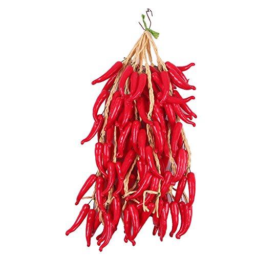 iches Obst Und Gemüse Küchen Wand hängen Dekor - rote Paprika 2, One Size ()
