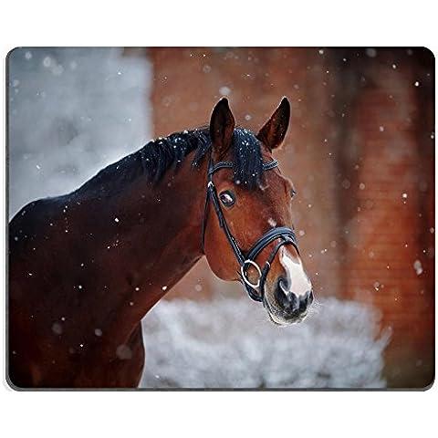 MSD-Tappetino per mouse in gomma naturale, gioco 35326800 foto ID: ritratto di cavallo Sport stallone Thoroughbred di cavallo