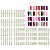 Punte delle unghie finte di 720Pcs, punte naturali artificiali di Segbeauty unghie a fondo piatto per le unghie del display